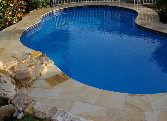 luxury sandstone pool